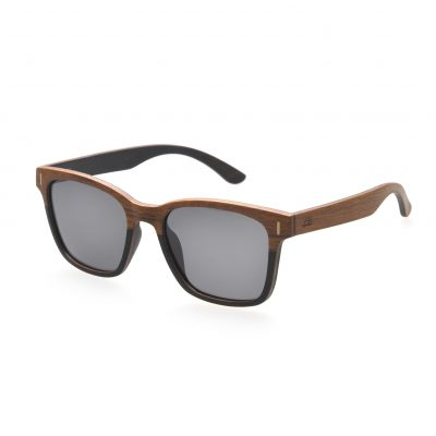 Ebony / Teak Wood Frame with Grey Lenses - Oakwood
